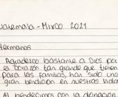 Agradecimientos desde Guatemala